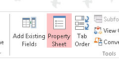 Access Properties Menu